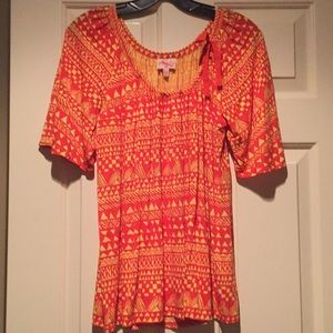 NWOT Plenty by Tracy Reese Orange and Yellow Top.P